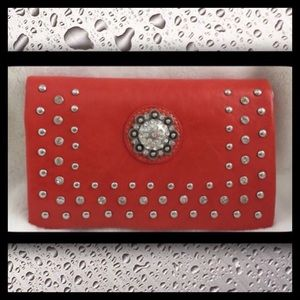 Rustic Coutures Studded Clutch Wallet