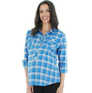 Everly Grey Tops - Maternity plaid top