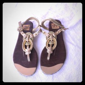 Dolce Vita Agnyss Gold Sandals