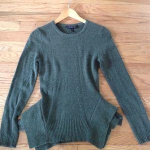 BCBGMaxAzria Loretta Peplum Sweater Loden Small