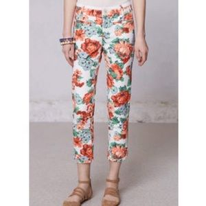 Anthropologie floral pants