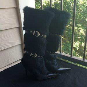 ALDO Shoes - ALDO Rabbit Fur/Leather Boots Sz 38