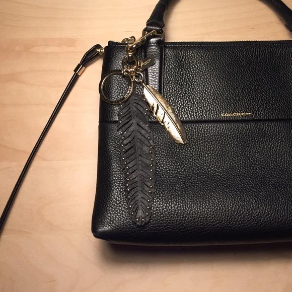 Coach Accessories - Coach Multi Feather Bag Charm Key Ring 06e5672bb85f