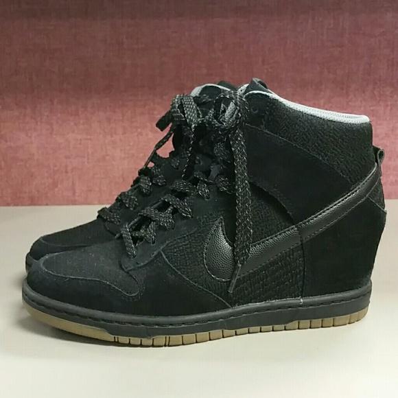 72a9a35194b5 Nike Dunk Sky High Wedge Heel Sneakers. M 576477fc981829f90a001714