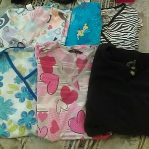 Lot of Various Nursing Scrub Tops