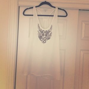Greylin Tops - White embellished top