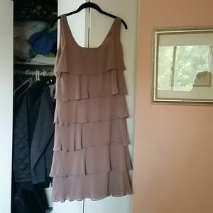 Patra Dresses & Skirts - Taupe mid  cocktail dress
