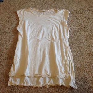 White Pacsun muscle tee