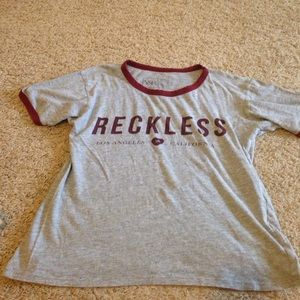 """""""Reckless"""" tee"""