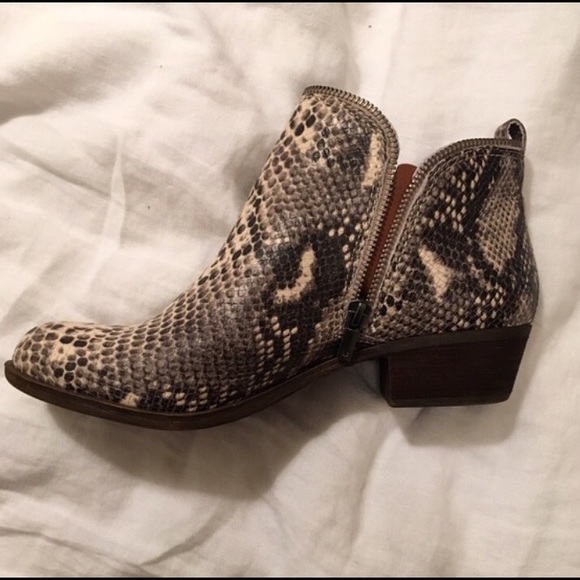 Lucky Brand Booties! Faux snake skin! Resell!