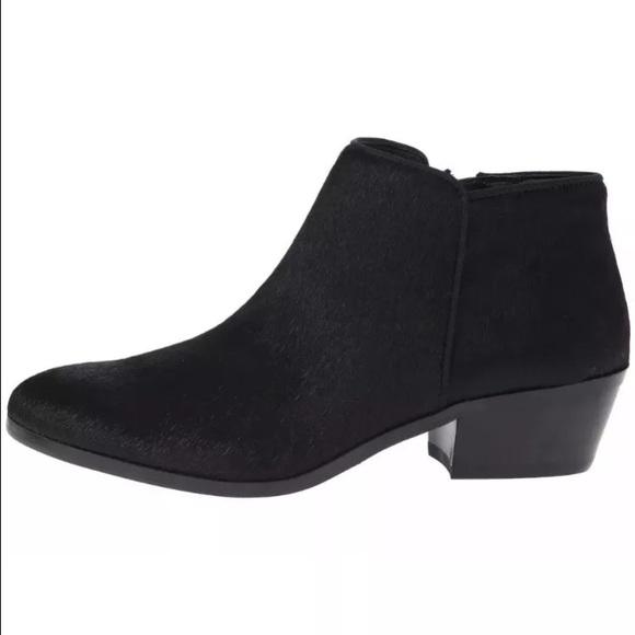 e63cb6fe265391 Sam Edelman calf hair ankle boots black