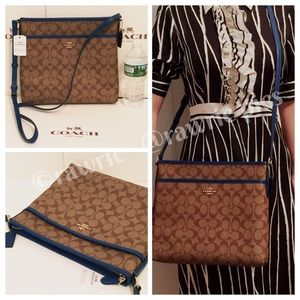 FINALPRICE New Coach signature khaki blue file