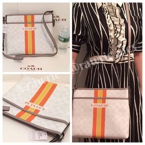 FINALPRICE New Coach signature white gray file