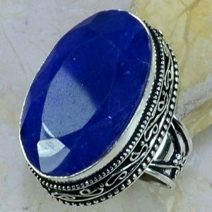 Jewelry - SALE??Sapphire Antique 925 Silver Ring size 7 1/4