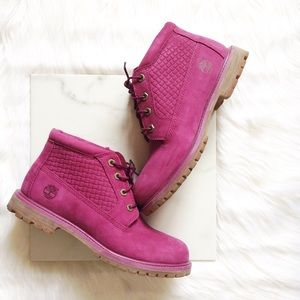 Timberland Shoes - Timberland raspberry boots