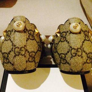 f71e2045f4f Gucci Shoes - Lexi studded GG Supreme lip ballet flats SZ 38