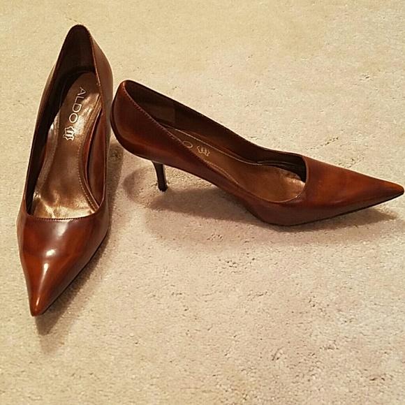 8d69f3d593c8 ALDO Shoes - ALDO MARBLE BROWN pointed 2.5