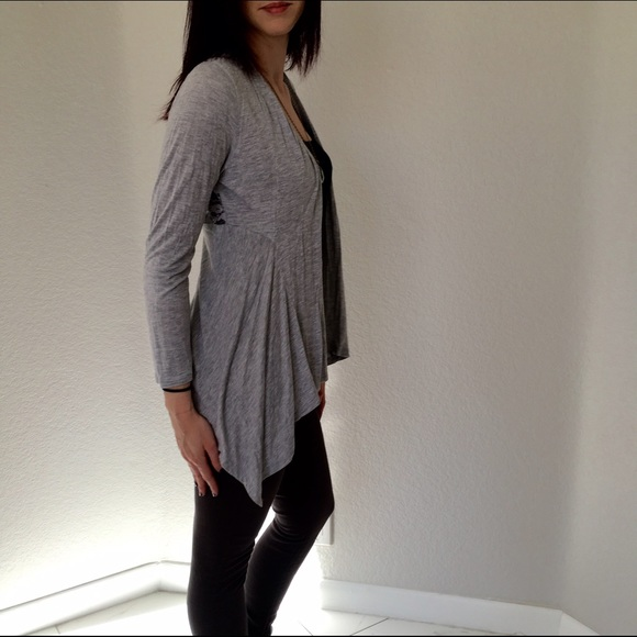 Ambiance - Ambiance Apparel Grey Lace Cardigan with Lace Back from ...