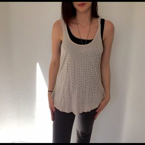 Classic Tops - Classic Cream Colored Top with Silver Detail
