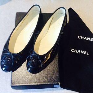 5083eedf736 Chanel Patent Calfskin flats SZ  38.5 ...