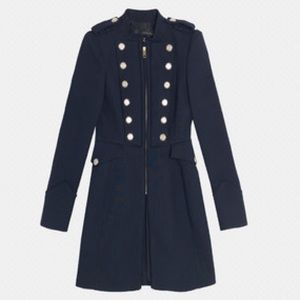 63% off Zara Jackets & Blazers - Zara Blue navy military coat from ...