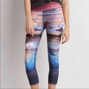 American eagle aeo sunset photo leggings XL