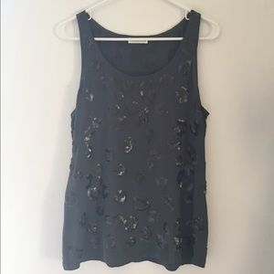 Whistles Tops - FLASH SALE: Whistles grey sequin embellished tank