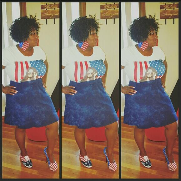 Blue Jean Mini Skirt 38