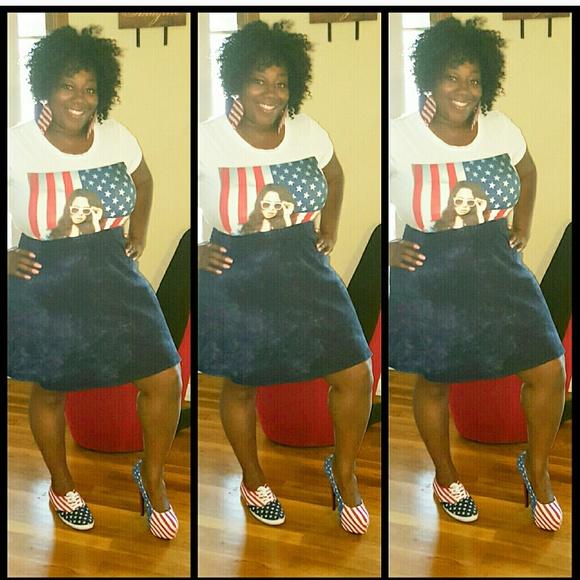 Blue Jean Mini Skirt 3