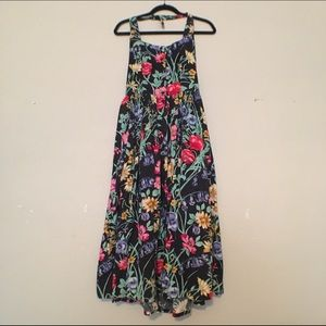 Vintage Tropical Halter Dress