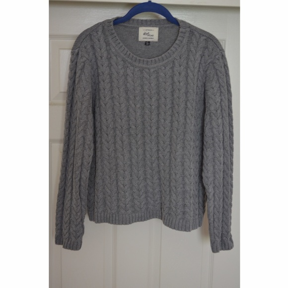 25% off Cotton On Sweaters - Cotton On Grey Cable Knit Sweater ...