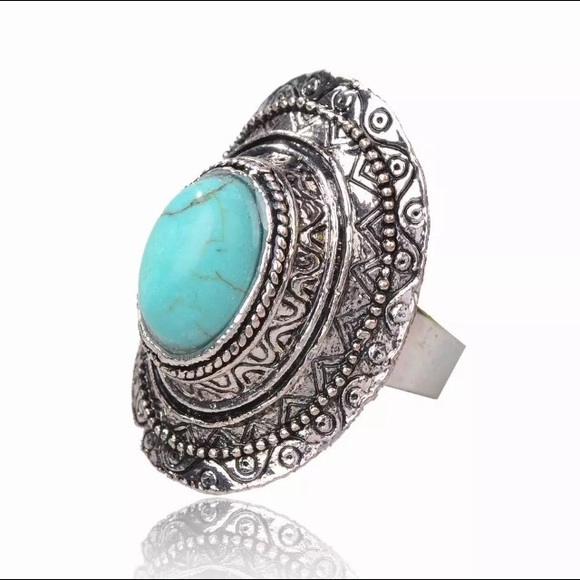Solstice Boutique Jewelry - 🌟Silver Turquoise Tribal Ring