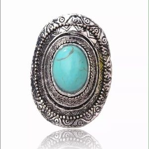 🌟Silver Turquoise Tribal Ring