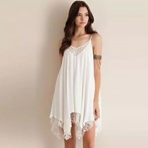 🌟Boho Chiffon & Lace Slip Dress