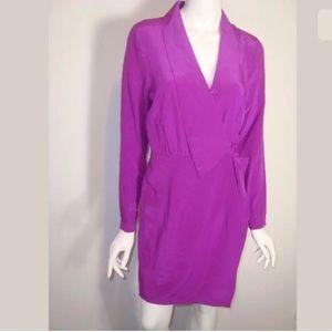 PRESLEY SKYE sz Small Silk Fiusha ELegant Dress 