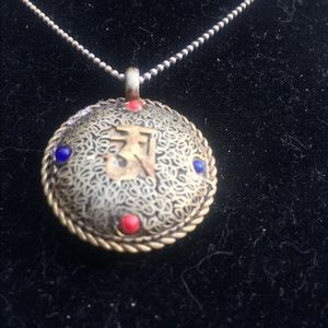 Jewelry - Handmade Tibetan Ohm necklace