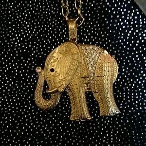 Beautiful Gold  Elephant necklace