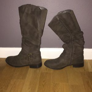 Shoes - tall grey boots from Target