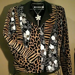 Anage Jackets & Blazers - Beautiful Animal Print, Embroidery & Beaded Jack