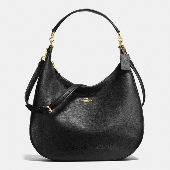 33% off Coach Handbags - Coach Harley Hobo Black Pebble Leather ...