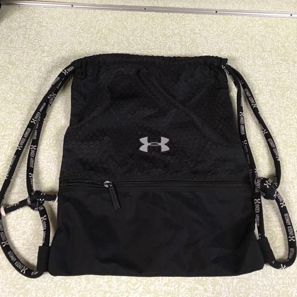 Under Armour Drawstring Gym Bag Black Backpack. M 57654a00b4188e97030147e2 6ebacbb295