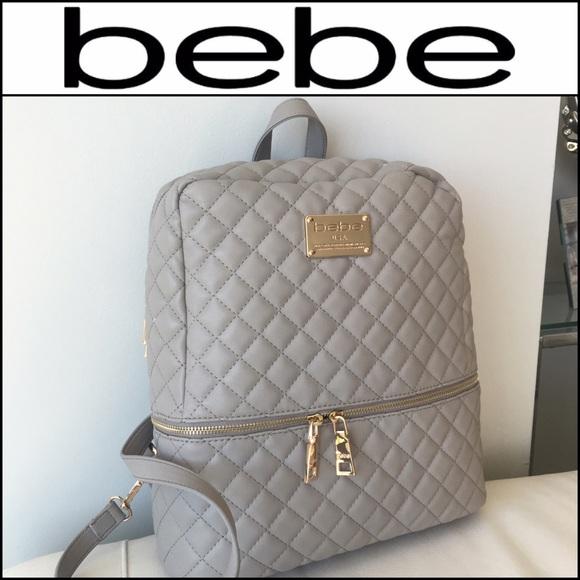 c9cdac06730e 💕BEBE Paloma Grey   Gold Danielle Backpack!💕
