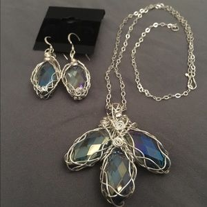 Jewelry - Silver 925 wrapped Czech crystals set