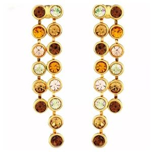 Handmade Jewelry - 🆕 DF100 Swarovski Crystal Cognac Earrings
