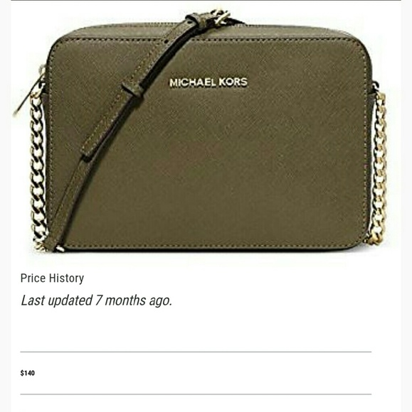 fed1274264ff Michael kors olive green jet set travel crossbody.  M 57656813ea3f36f502003575