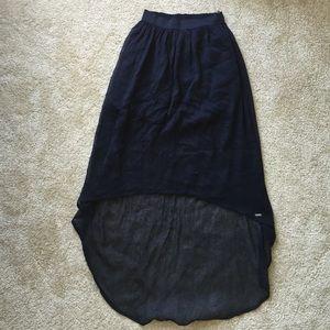 Hollister Navy Flowy Maxi Skirt
