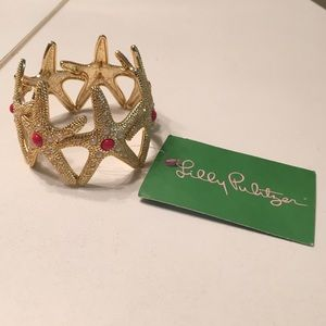 NWT Gold Lilly Pulitzer Starfish Bracelet