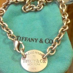 Tiffany's dog tag necklace
