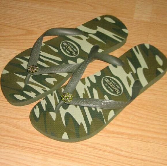 1f9b9b8c56a16a Havaianas Shoes - Crystal Green Camo Havaianas Sandals Flip Flops