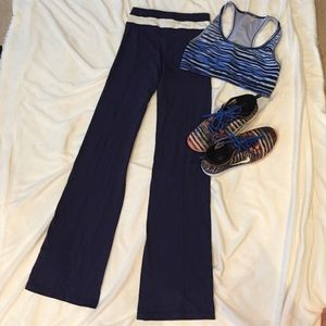 New Navy Blue Workout Gym Fitness Pants Small